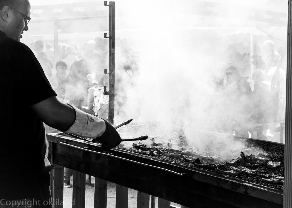 Røykfull grill på Gladmat