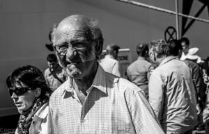 Kjinnskjegg-mann Gladmat 2012 svart -hvitt