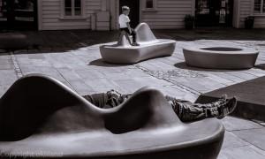 Hvilende mann og gutt Stavanger