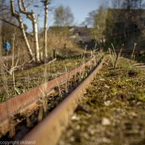 Ålgårdbanen og togskinner i Sandnes