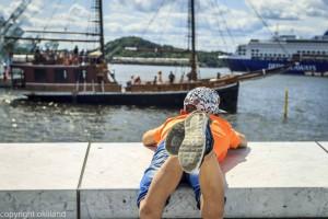 Operaen i Bjørvika og sjørøverskip av Ørjan Liland