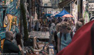 Bilde fra Søndagsmarkedet på Blå av Ørjan Liland