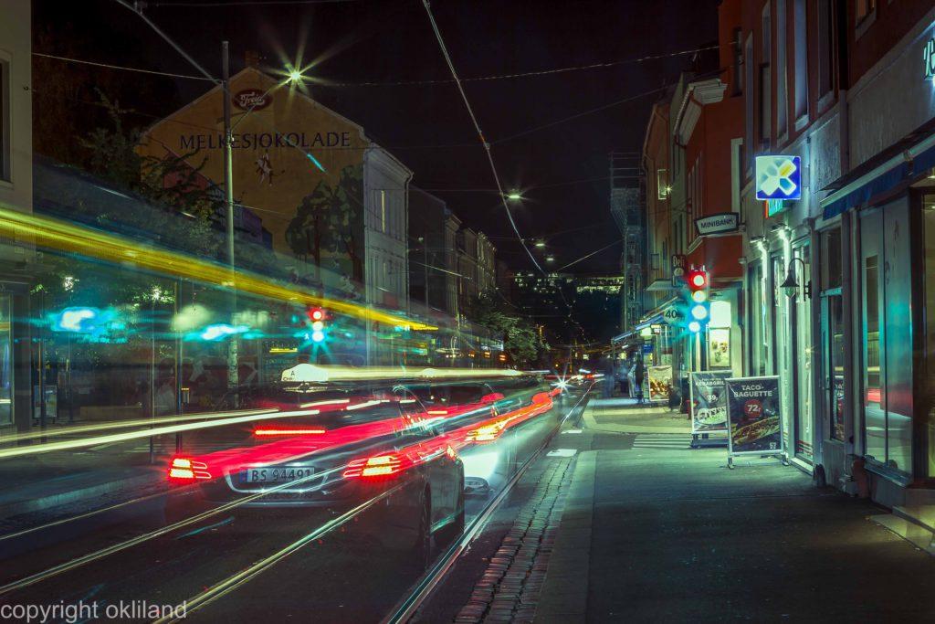 Lysmaling og HDR bilde av Freiaveggen på Grunerløkka i Oslo av Ørjan Liland