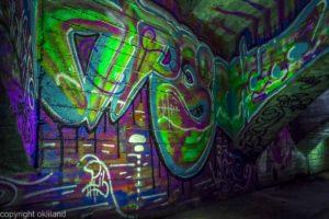 Bilde grafitti under bru Akerselva av Ørjan Liland