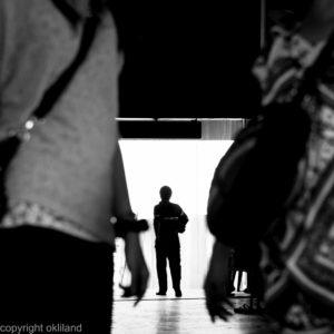 Bilde, går gang svart hvitt Thailand Ørjan Liland