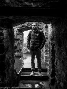 bilde svart hvitt Urquhart Castle Dag Ivar Nordby Skottland Ørjan Liland